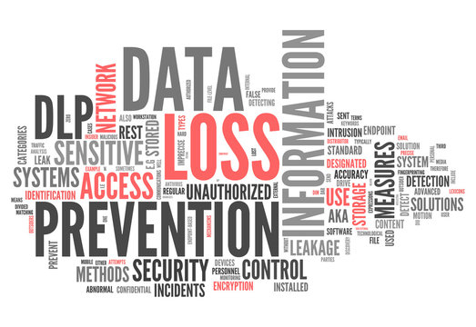 "Word Cloud ""Data Loss Prevention"""