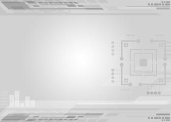 Abstract grey tech