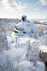 Famous rock on Szczeliniec Mountain, Poland