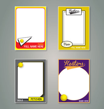 Softball Trading Card Frames