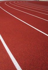 Lanes of a Red Running Track
