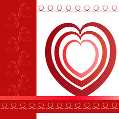 tamplate of greeting card with heart