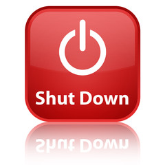 """Shut Down"" Square Button"