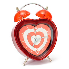 Heart shaped alarmclock