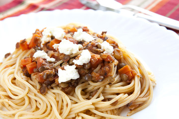 Spaghetti with Lentil