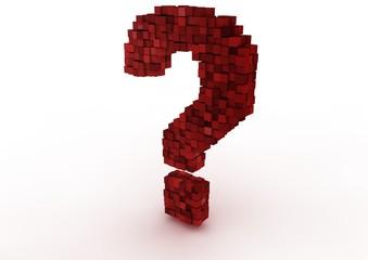 Fotobehang Pixel question