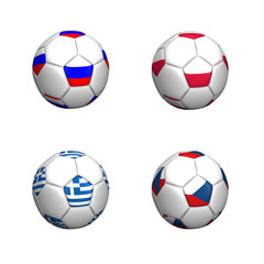 balones bandera equipos grupo A euro copa 2012