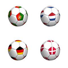 balones bandera equipos grupo B euro copa 2012