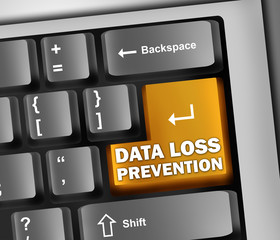 "Keyboard Illustration ""Data Loss Prevention"""