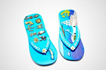 Flip-flops on white