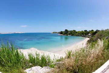 beautiful coast on the Blue Sea, siracusa, sicily, italy Fototapete