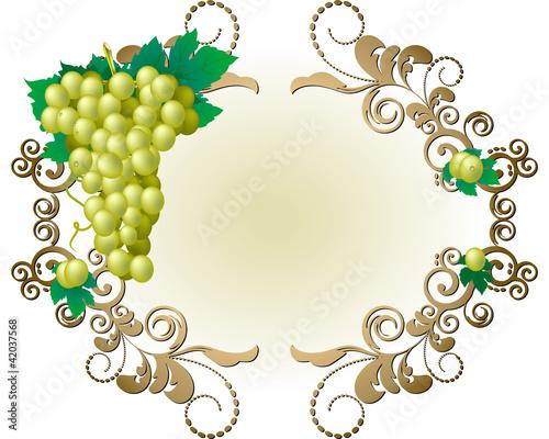 Cornice con grappolo d 39 uva bianca immagini e vettoriali for Cornice bianca foto