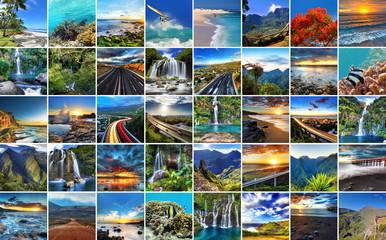 Paysages variés de l'ïle de La Réunion.