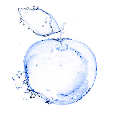 apple made out of water splashes isolated on white