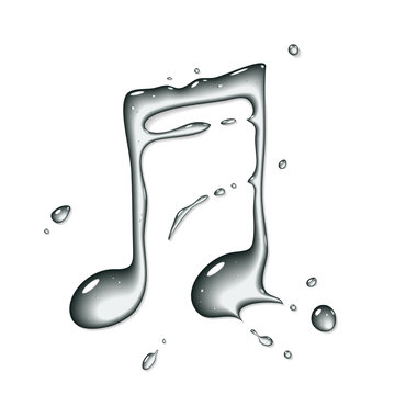 Vector water note symbol - Water font