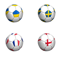 balones bandera equipos grupo D euro copa 2012