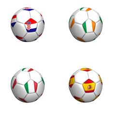 balones bandera equipos grupo C euro copa 2012