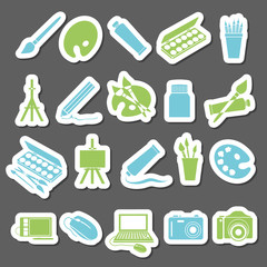 art stickers icon