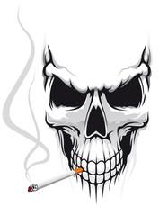 Skull with cigarette