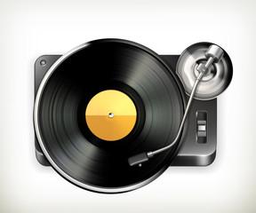Phonograph turntable