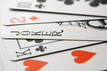 Image of playing cards and joker