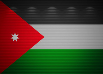 Jordanian flag wall, abstract background
