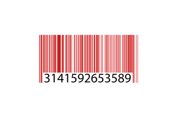 Código barras rojo