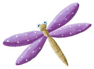 Cute purple Dragonfly