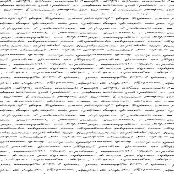 Handwriting. Seamless vector background.