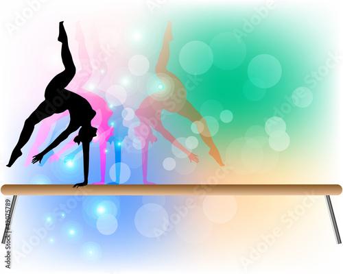 quot ginnastica artistica trave quot  immagini e vettoriali gymnastics clipart frame gymnastics clipart beam
