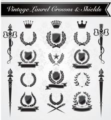 Vintage Laurel Crowns & Shields