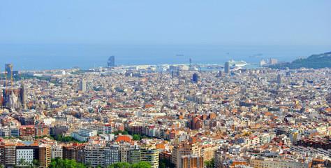 Vista panorámica de Barcelona, Spain (Europe)