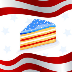 vector illustration of a 4th of july background