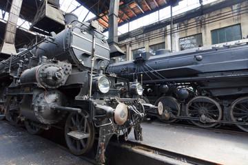 Locomotive in the garage
