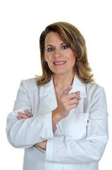 Woman Wearing White Lab Coat