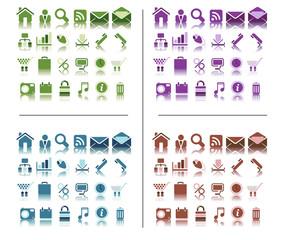 Web icones colorées