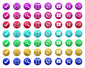 Plaquette d'icône rondes