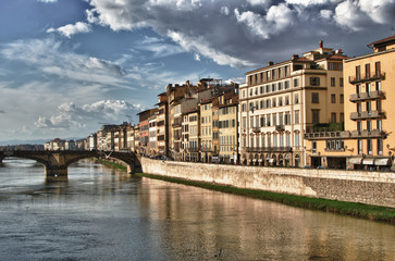 View of Florence from Ponte Vecchio