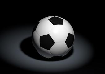 Klassischer Fußball 3D Illustration