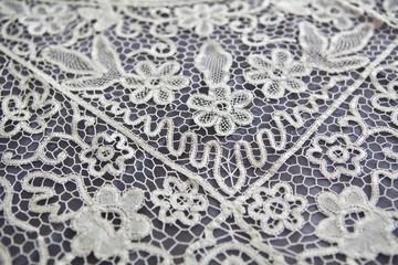 vintage tablecloth lace detail
