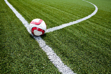 Soccer ball on the stadium
