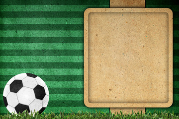 Old paper background football 2012