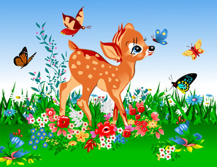 smallest deer in the spring