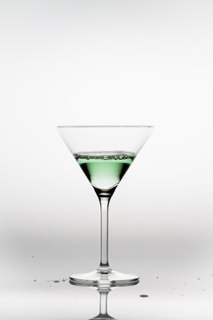 Appletini in a cocktail glass
