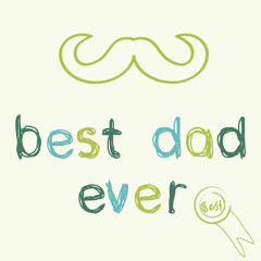 Greeting card template for Father's Day