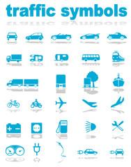 Traffic symbols vector