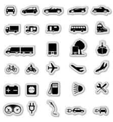 Symbole verkehr Set