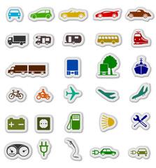 bunte Verkehrssymbole