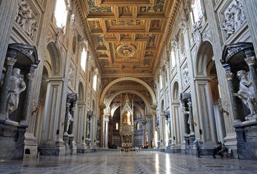 Rome -  basilica of Lateran basilica of st. John