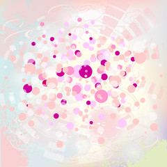 soft pink background with bubbles